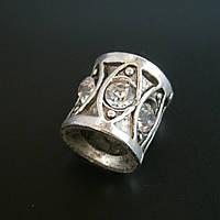 Бусина Pandora (Пандора) посеребренная со стразами P9020731, фото 1