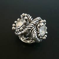 Бусина Pandora (Пандора) посеребренная со стразами P9020734