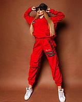 Женский брючный теплый костюм с накладными карманами и свободной кофтой tez1810397, фото 1