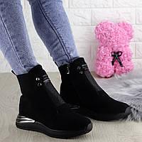 Женские зимние ботинки Shelby черные 1346