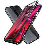 Магнітний метал чохол FULL GLASS 360° для Xiaomi Redmi K20 /, фото 2