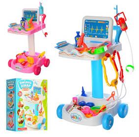 Игровой набор Доктор 606-1-5 с тележкой, инструменты, микроскоп