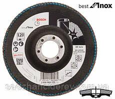 Круг шлифовальный лепестковый, Bosch K120 125 мм, Best for Inox