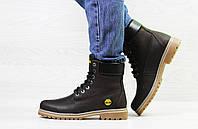 Ботинки кожаные подростковые Timberland,ботинки Тимберленд,коричневые
