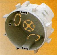 Коробка приборная подрозетник КР 67/3 d 70 (с соединительными лапами 75мм), глубина 45мм Копос