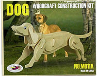 """Деревянная 3d модель """"Собака"""" (2 пластины)"""