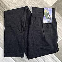 Лосины женские бесшовные хлопок Kenalin, тёмно-серые, размер M-L, 09С