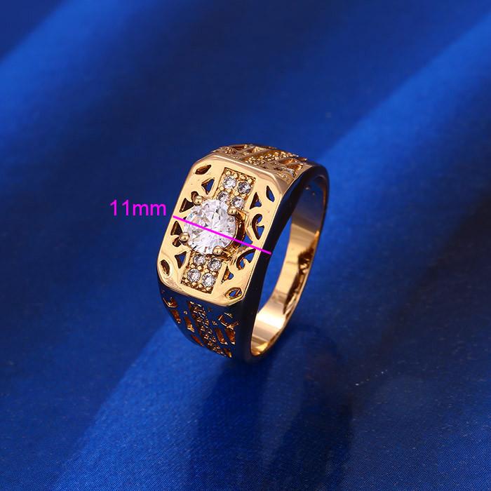 Кольцо позолота, Печатка, р 18,5