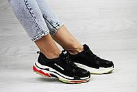 Женские,подростковые кроссовки Balenciaga(Баленсиага),черно-белые с красным 41р