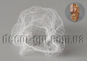 Сеточка белая для волос куклы