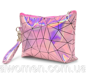 Косметичка на молнии с рисунком треугольник Pink (22.5 см х 14,5 см)