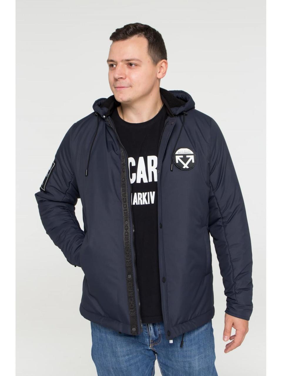 Мужская зимняя куртка бомбер Riccardo NY Синий 46
