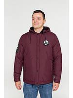 Мужская зимняя куртка бомбер Riccardo NY Бордовый 46