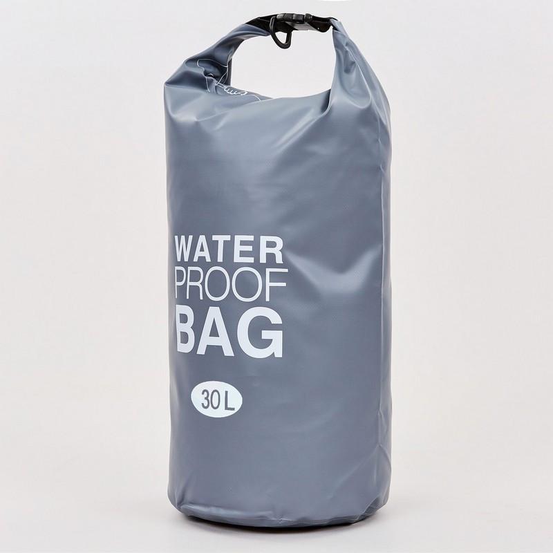 Водонепроницаемый гермомешок с плечевым ремнем Waterproof Bag 30л (PVC,цвета в ассортименте )