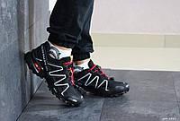 Кроссовки мужские Salomon,кроссовки для бега,черно-белые