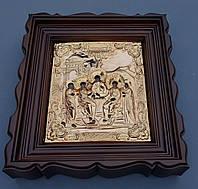 Киот из ольхи с деревянным багетом для подокладной иконы., фото 1