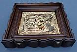 Киот из ольхи с деревянным багетом для подокладной иконы., фото 3