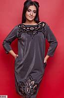Платье женское вечернее красивое трикотаж люрекс больших батальных размеров 58-62
