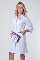 Женский медицинский халат белый Medical-2135 (батист)
