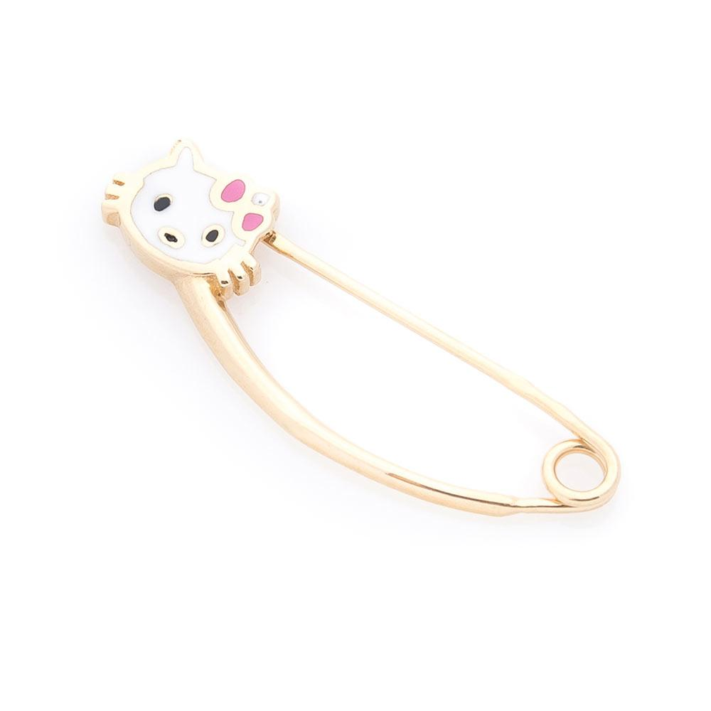 "Золотая Булавка GS  ""Hello Kitty"" (эмаль)"