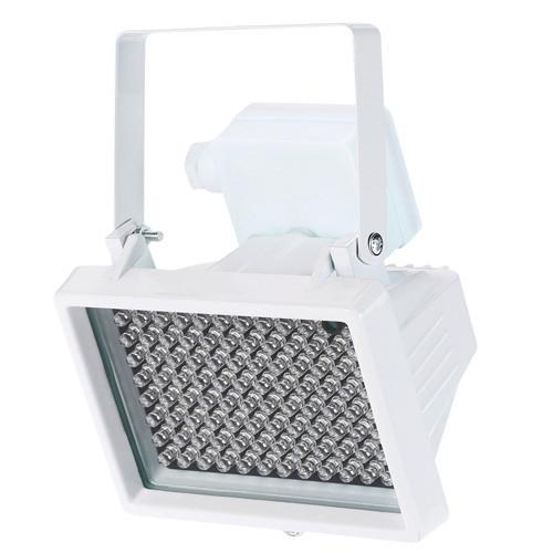 Прожектор инфракрасный ИК для камер 96LED 60м уличный, белый
