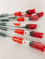 Сувенир Красная Роза из Ткани Подарок на День Святого Валентина 8 Марта 24 шт в Упаковке
