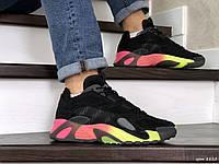 Мужские кроссовки Adidas Streetball,черные с оранжевым