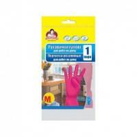 ПОМ Перчатки резин. универсальные с напылением М (15)