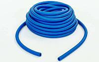 Жгут эластичный трубчатый спортивный (латекс, d-5 x 9мм, l-1000см, синий) PZ-FI-6253-2