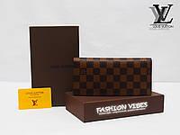 Кошелек Louis Vuitton коричневая клетка ЛВ