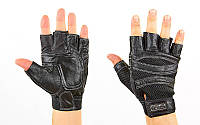 Перчатки для кроссфита и воркаута кожаные SPORT WorkOut размер S-L M PZ-BC-120_1