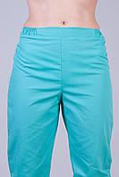 Медицинские штаны бирюза 2603 (батист)