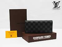 Кошелек Louis Vuitton серая клетка ЛВ