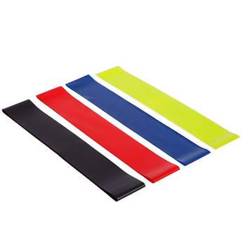 Ленты сопротивления набор 4шт LOOP BANDS PRO ACTION (размер: 600x50мм, толщина-0,35мм, 0,5мм, 0,7мм,1мм, салатовый, красный, синий, черный) PZ-3571-1