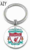 Ливерпуль Liverpool брелок на ключи СУВЕНИР футбольный клуб металл стекло