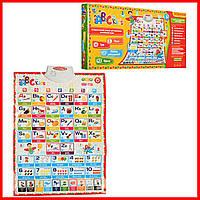 Обучающий плакат Limo Toy ENG английский алфавит и цифры с озвучкой (7031)