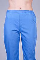 Медицинские штаны синие 2602 (батист)