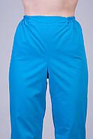 Медицинские штаны голубые 2601 (батист)
