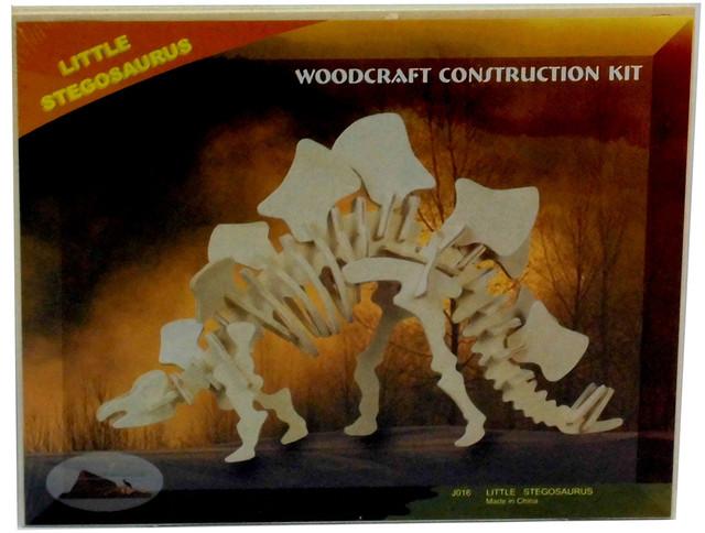 """3д деревянная модель """"Стегозавр"""""""