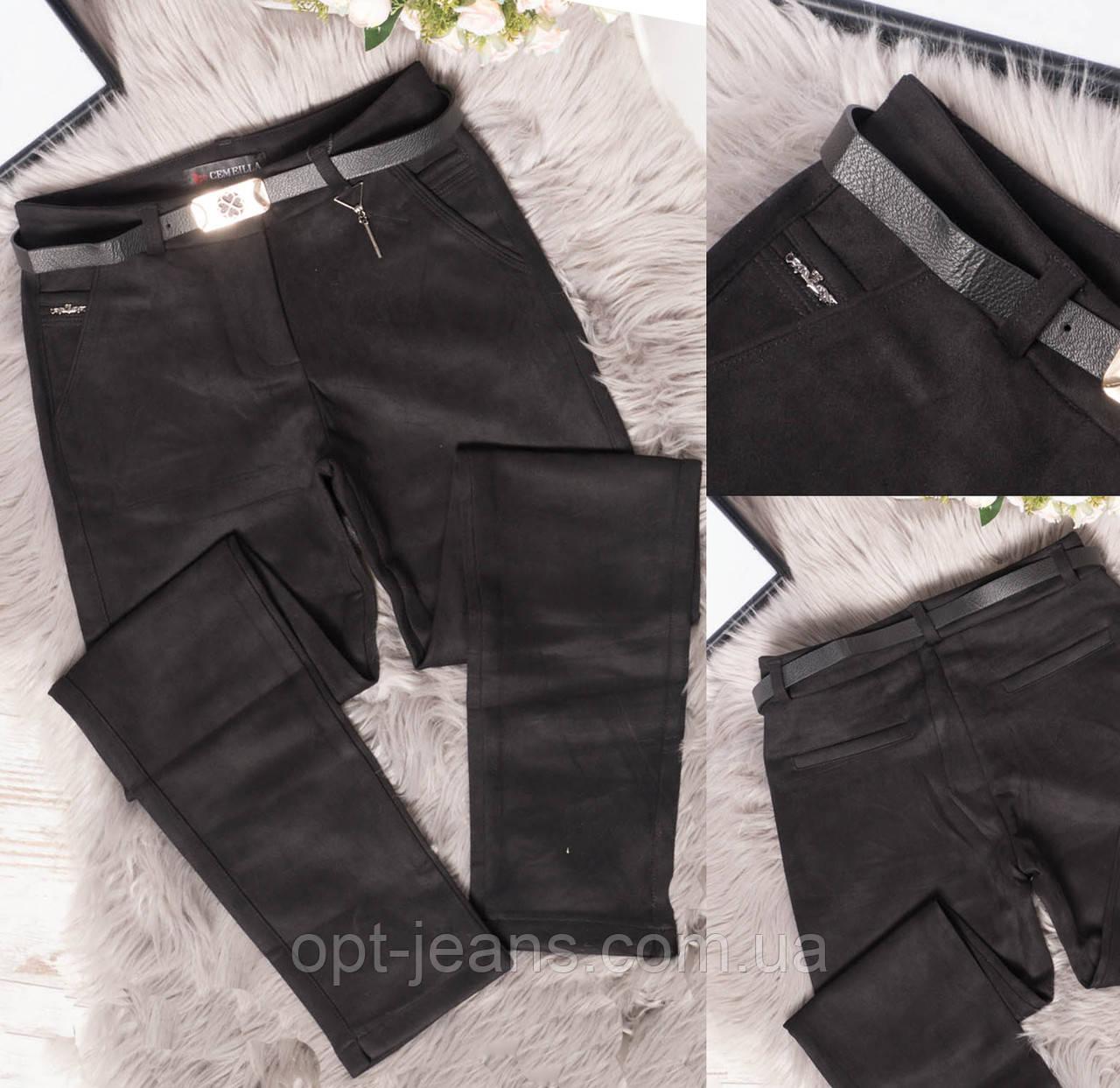 9126-1 Cemeilla джеггинсы замшевые черные весенние стрейчевые (25-30, 6 ед.)