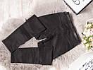 9126-1 Cemeilla джеггинсы замшевые черные весенние стрейчевые (25-30, 6 ед.), фото 2