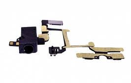 Шлейф Apple iPhone 4 кнопок громкости и коннектора наушников черный