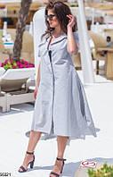 Платье женское летнее легкое свободное стильное лен 48-54.