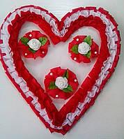Свадебное сердце для украшения свадебного авто (красное)