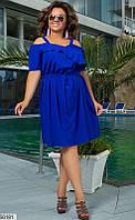 Платье женское летнее легкое нарядное софт больших размеров 48-62 батал