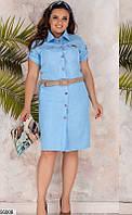 Платье женское летнее легкое повседневное лен 50-56.
