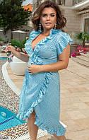 Женское летнее легкое свободное платье женское софт 48-58 размеров