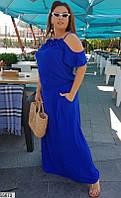 Платье женское летнее длинное штапель большого батального размера 60-64 универсальный