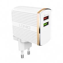 Сетевое зарядное устройство LDNIO A2502Q QC 3.0 2 USB (3A)  провод Type-C