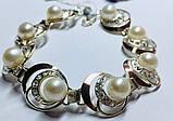 Браслет в сріблі з білим золотом і перлами Люція, фото 2